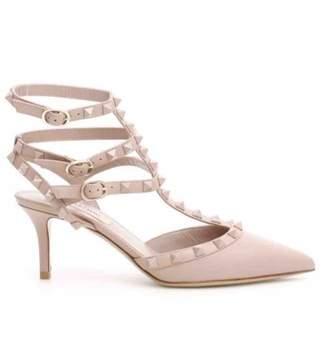 Valentino Rockstud Pink Leather Heels