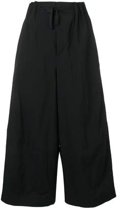 Y-3 cropped wide-leg trousers