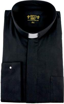 "Mercy Robes Mens Long Sleeve French Cuff Tab Collar Clergy Shirt (17.5"" Neck 34/35 Sleeve, )"