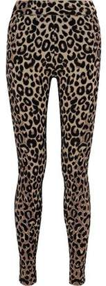 Milly Leopard-print Stretch-knit Leggings