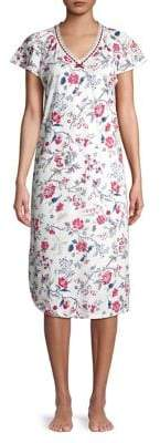 Karen Neuburger Petite Short-Sleeve Floral Nightgown