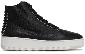McQ Netil Lace-up Textured-leather High-top Sneakers