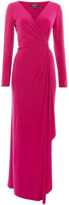 Lauren Ralph Lauren Long sleeved jersey gown