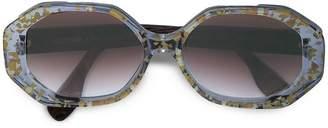 Rosie Assoulin clear framed sunglasses