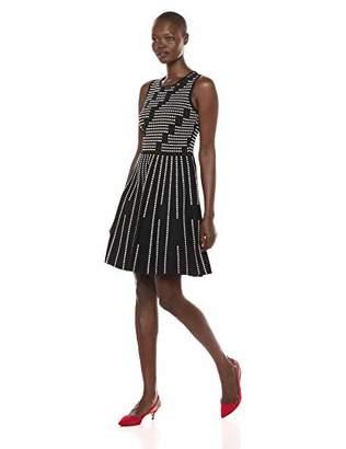 Eliza J Women's Sleeveless Jacquard Fit and Flare Dress