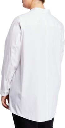 Lafayette 148 New York Leora Shirttail Blouse, Plus Size