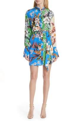 Diane von Furstenberg Floral Silk Shirtdress