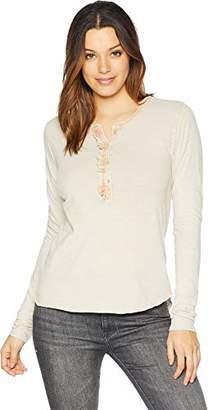 Lucky Brand Women's Ruffle Henley Shirt in