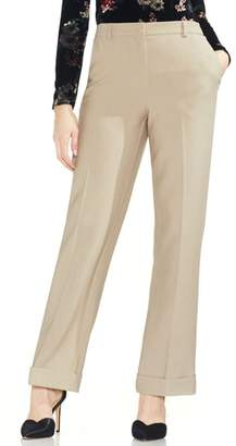 Vince Camuto Cuff Wide Leg Stretch Crepe Pants