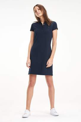 Tommy Hilfiger Womens Heritage Slim Polo Dress - Blue