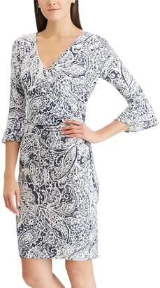 Chaps Women's Ruffle-Sleeve Sheath Dress