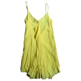 BCBGMAXAZRIA Yellow Silk Dress for Women