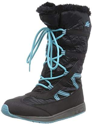 Lico Girls' Molly Warm Lined Snow Boots Short Length Black Size: