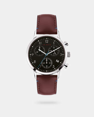 Ted Baker COSCHR Leather strap watch