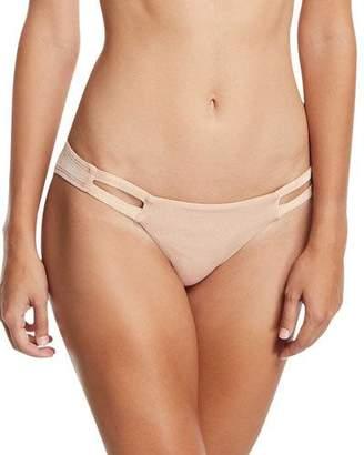 Vitamin A Neutra Hipster Swim Bikini Bottom, Rose Gold