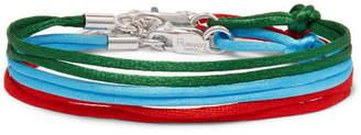 Rubinacci Set Of Three Silk Ribbon Bracelets