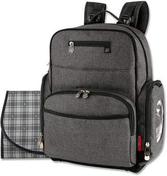 Fisher-Price Gray Backpack Diaper Bag