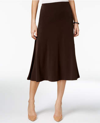 JM Collection Petite Diagonal-Seam Midi Skirt, Created for Macy's