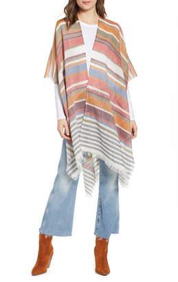 Frye Stripe Cotton & Linen Scarf
