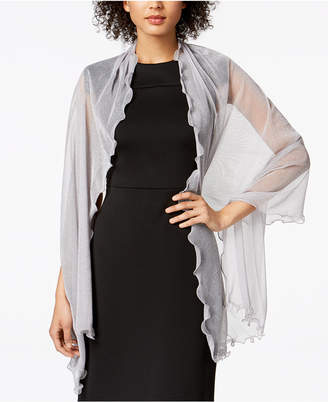 INC International Concepts I.N.C. Ruffle-Edge Metallic Evening Wrap, Created for Macy's