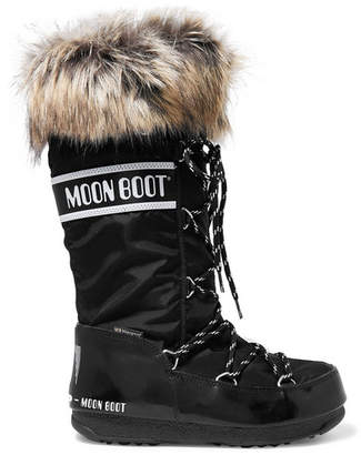 Moon Boot Monaco Shell And Rubber Snow Boots - Black