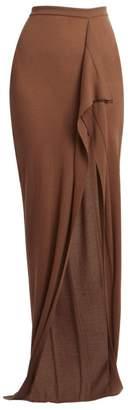 Rick Owens Soft Grace Cashmere Knit Maxi Skirt