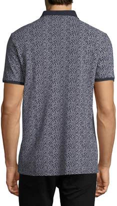 Neiman Marcus Mini-Floral Pique Sport Shirt