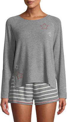PJ Salvage On Holiday Long-Sleeve Lounge Shirt