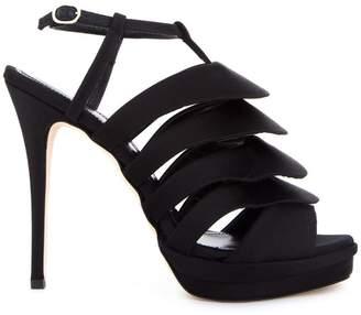 Jerome Rousseau 'Quorra' satin evening sandals