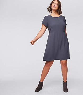 LOFT Plus Shoulder Button Flare Dress