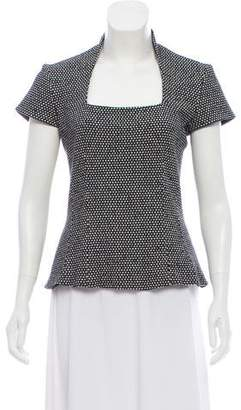 L'Agence Patterned Short Sleeve Top
