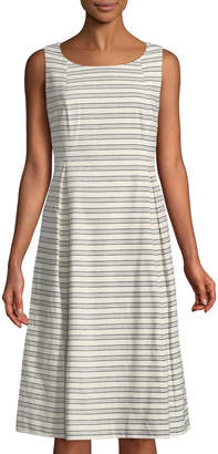 Lafayette 148 New York Macenna Striped A-Line Dress