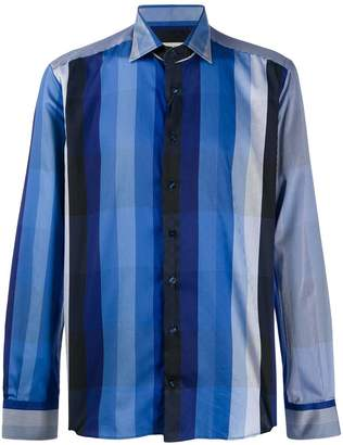 Etro block striped shirt
