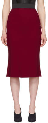 Dolce & Gabbana Red Cady Pencil Skirt