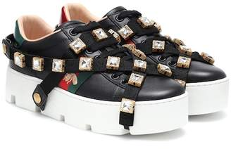 c96a18d88477 Gucci Ace embellished platform sneakers