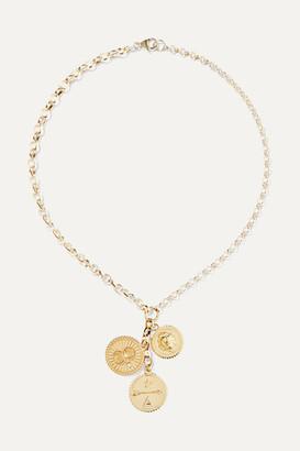 Foundrae - Karma, Strength And Dream 18-karat Gold Diamond Necklace