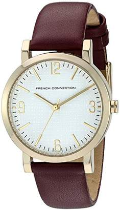 French Connection Women's 'Catherine' Quartz Stainless Steel and Leather Watch