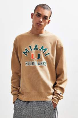 Champion UO Exclusive University Of Miami Hurricanes Crew-Neck Sweatshirt