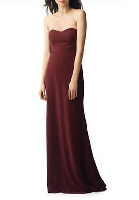 Jenny Yoo Kylie Crepe De Chine Strapless Dress