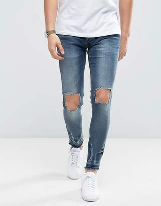 Brave Soul Ripped Turned Up Skinny Jeans