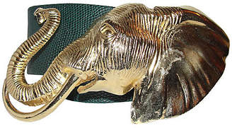 One Kings Lane Vintage Accessocraft NYC Gold Elephant Belt
