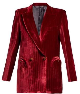 Blazé Milano Blaze Milano - etoile Double Breasted Velvet Blazer - Womens - Red