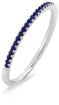 Women's Bony Levy Stackable Gem Straight Band Ring (Nordstrom Exclusive) $695 thestylecure.com