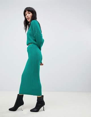Asos Design DESIGN two-piece skirt in rib knit