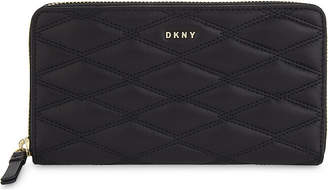 DKNY Quilted leather zip-around wallet