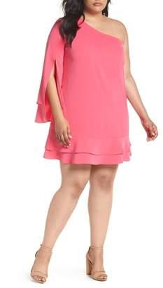 ELVI The Pyranine One-Shoulder Swing Dress