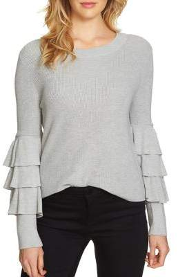1 STATE 1.STATE Tiered Ruffle Sleeve Sweater
