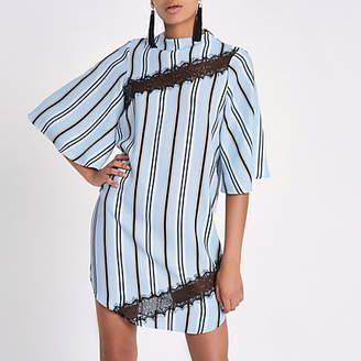 River Island Light blue stripe swing dress