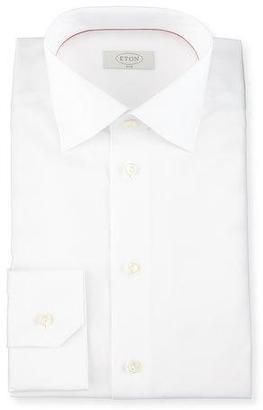 Eton Slim-Fit Solid Dress Shirt, White $245 thestylecure.com