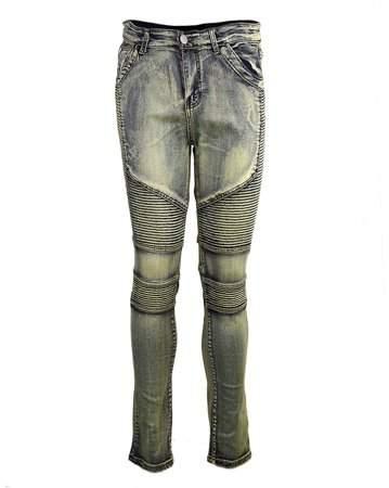 Smallrain Comfortable Denim Trousers Elastic Jeans Casual Slim Men Jeans Long Pants